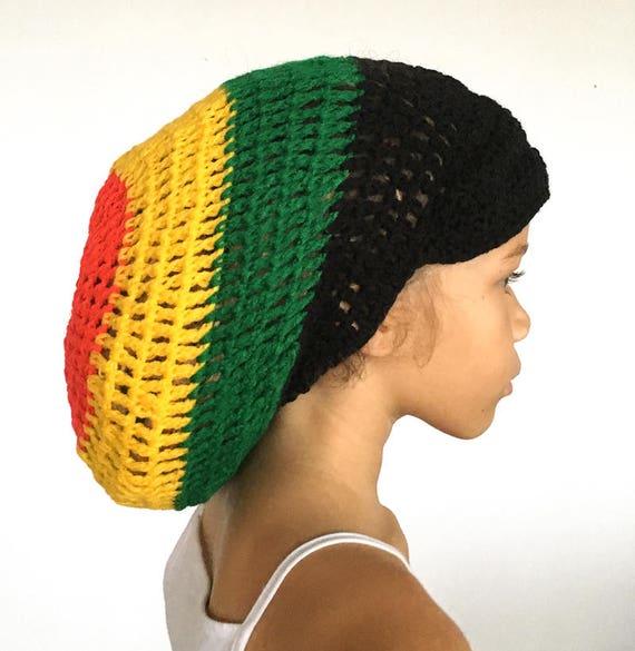 l'atteggiamento migliore prezzo basso migliore vendita Rasta Tam all'uncinetto, Cappello Rasta con picco nel terrore colori