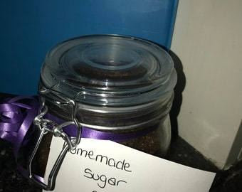 Handmade coffee sugar scrub
