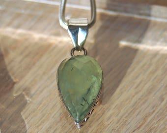 Prehnite Pendant // Prehnite // Green Prehnite Pendant // Prehnite Necklace // Prehnite Stone // Sterling Silver // Green Gooseberry