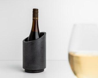 Wine cooler / bottle cooler for sparkling wine, champagne & wine made of concrete