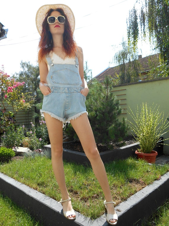 Jumpsuit Sexy Shorts, Ripped Denim Jumpsuit, Overa