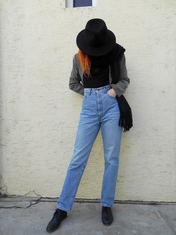Vintage Jeans 80s, High Waisted Jeans, Tapered Jea