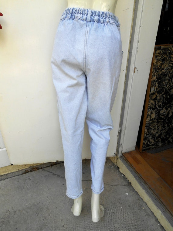Vintage High Waist Baggy Pleated Jeans, Tapered W… - image 8