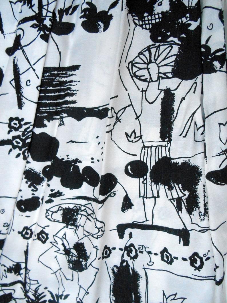 Vintage Skirt 80s High Waist Midi Novelty Skirt