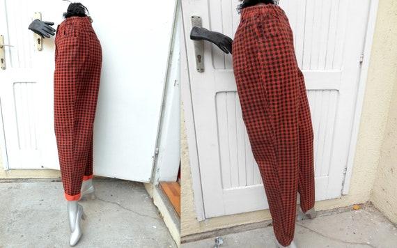 Vintage High Waist  80s Mom Jeans, Plaid Punk Jea… - image 3