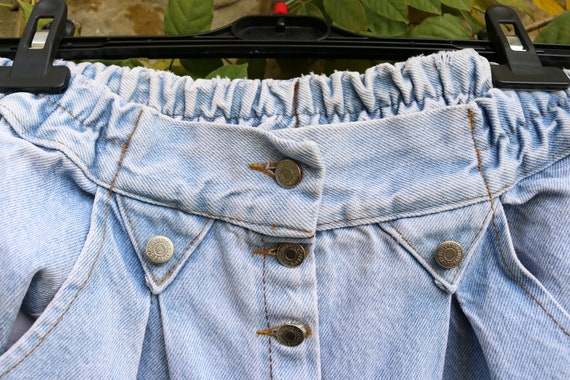 Vintage High Waist Baggy Pleated Jeans, Tapered W… - image 3