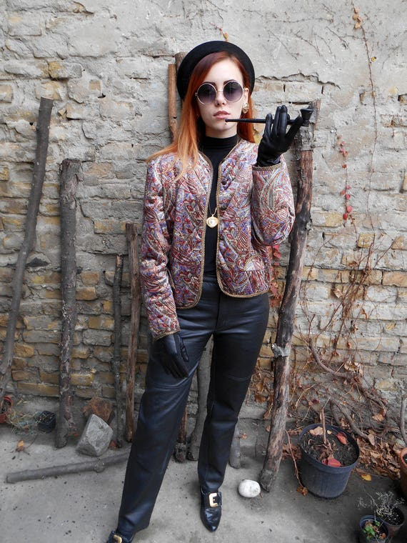 Leather Pants 80s / High Waisted Black Biker Faux