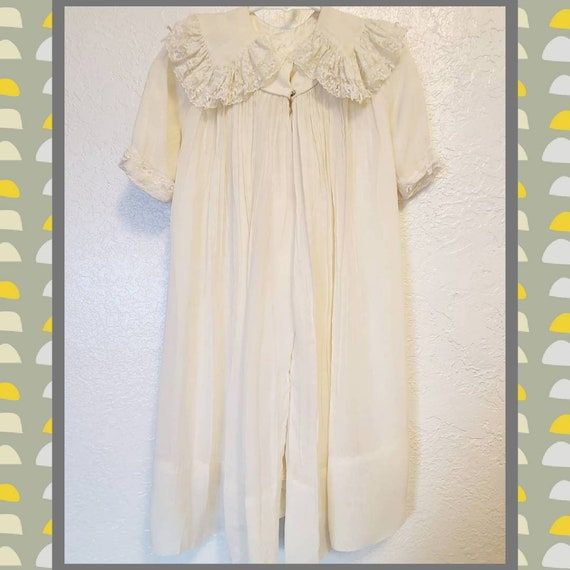 1940s Vintage Girls Small Boho House Coat Dress