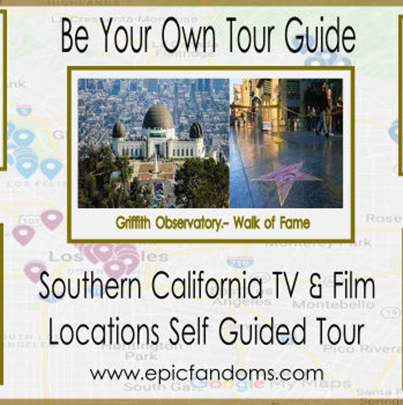 Los Angeles Walking/Driving Tour-Travel Guide To Locations from the TV &  Movies