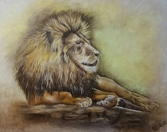 "Fine Art Lion Print ""Judah"""