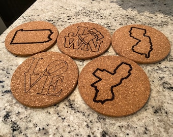 Laser Engraved Trivets - Philadelphia, PA, NJ, Jawn and Love designs. Thoughtful, cute, house warming gift!