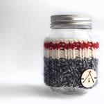 Wool cozy for mug, red cozy, mug warmer, sock for mug, wool sock for mug, tea accessory, coffee accessory, cozy sock, mason jar sock