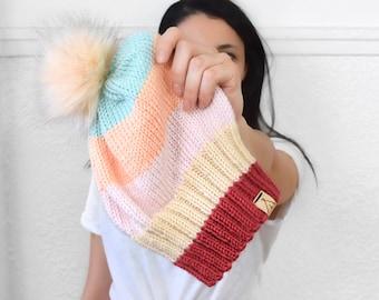 Tuque BOSTKOLORE - Patron tricot français