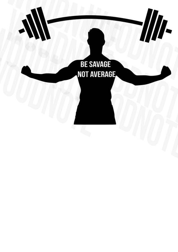 Remise en forme SVG entraînement SVG être sauvage non moyenne santé Barbell devis musculaire