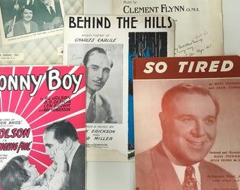 Vintage sheet music -assorted