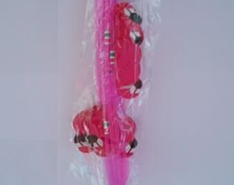 Pink Flamingos Party Paper Drinking Straws
