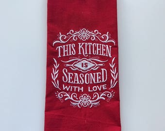 Seasoned Kitchen Towel