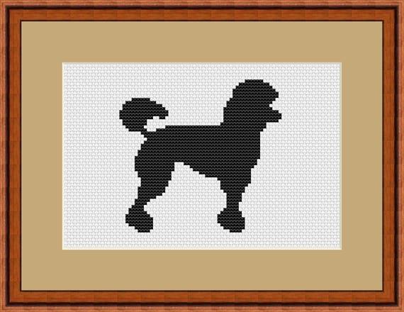 Kit Poodle Dog Cross Stitch Chart