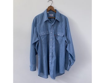 Levi's Western Pearl Snap Chambray