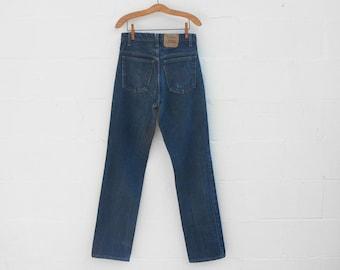 Vintage Orange Tab Levis 505 Straight Leg Denim Jeans