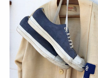 Converse Jack Purcell Low Top Sneakers Blue Suede Made in USA