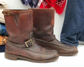 Gokey Botte Sauvage Hunting Boot Engineer Style Snake Boot size 9.5 E