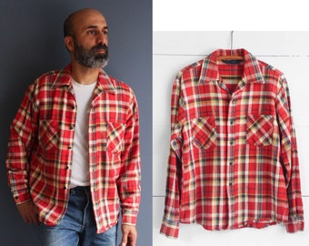 Bright Red Cotton Plaid Flannel