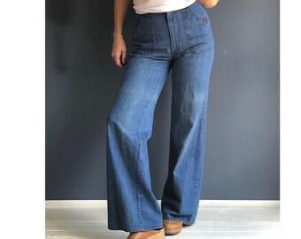1970's H.I.S. Wide Leg Denim | Bell Bottom Jeans