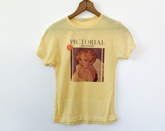 Vintage Yellow Pictorial Review Covergirl T shirt