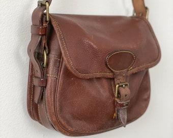 Brown Leather Shoulder Bag Made in England