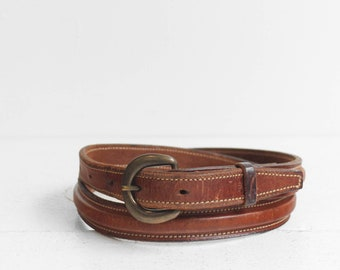 Perfectly Worn Brown Leather  Belt size 34