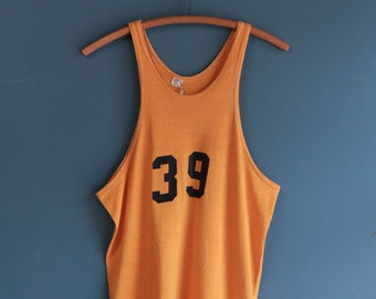 1950's Russell Southern Co. Yellow Basketball Jersey