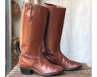 Vintage Gokey Brown Leather Riding Boots