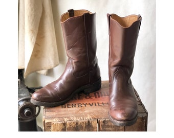 Vintage Red Wing Western Pecos Boots Cowboy Styled Work Boots