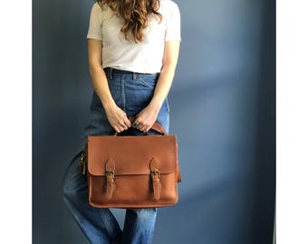 Vintage COACH Leatherware Brown Messenger Bag