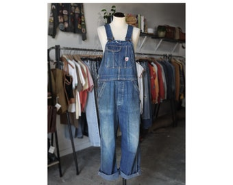 Perfectly Worn Big Mac Low Back Denim Overalls