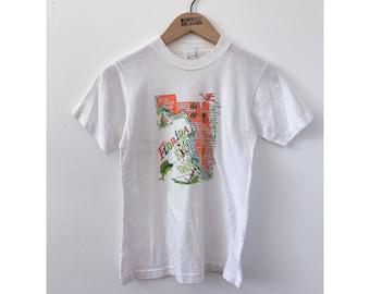Vintage 60's Florida Souvenir T-Shirt Tourist Shirt Summer Shirt