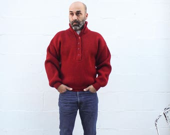 MED | Men's REI Red Wool Hunting Sweater