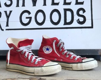 Vintage Red Converse Shoes