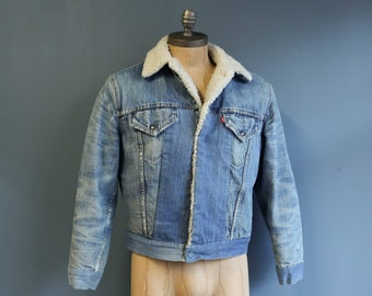 Distressed & Re-Constructed Levi's Sherpa Jacket