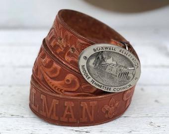 Boxwell Reservation Camp Stahlman Boy Scout Belt & Buckle