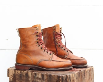 SEARS Wearmaster Glove Tanned Leather Work Boots