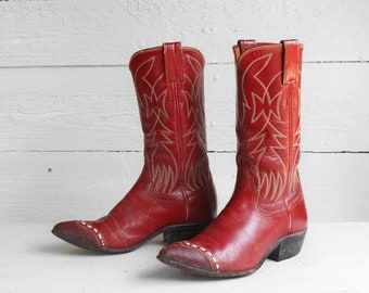 Vintage Red Cowboy Boots