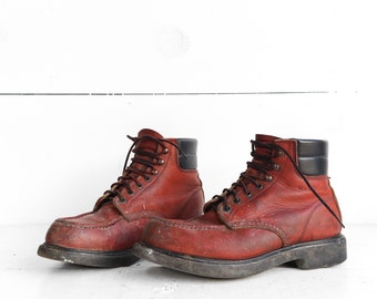Vintage Red Wings Boots Lace Up Work Boots size 8 D