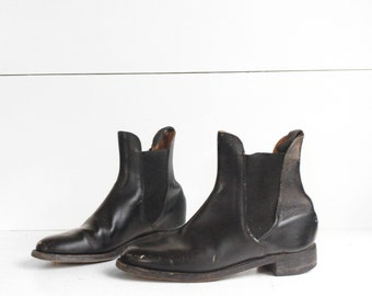English Equestrian Riding Boots | Black Leather Chelsea Boots NARROW WIDTH