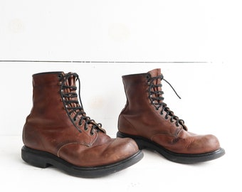 Vintage Red Wing Boots Lace Up Work Boots size 10 EEE