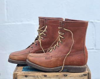 Vintage GH Bass & Co Field Trial Boots Leather Lace Up Sport Boot