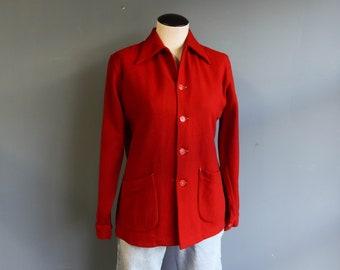 Women's McGregor Red Lightweight Wool Jacket