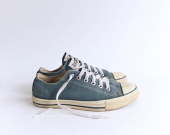 Vintage Faded Blue 80's Low Top Converse Chuck Taylor Shoes