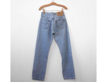 Levis 501 Button Fly High Waist Denim Jeans